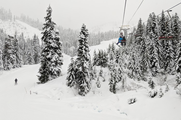 Chair lift at Sasquatch Mountain Resort British Columbia Canada
