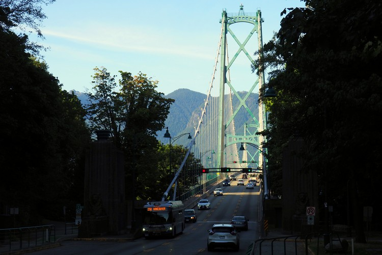 south side of the Lions Gate Bridge Vancouver BC