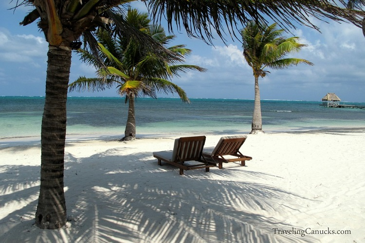 what does the beach look like on Ambergris Caye Belize