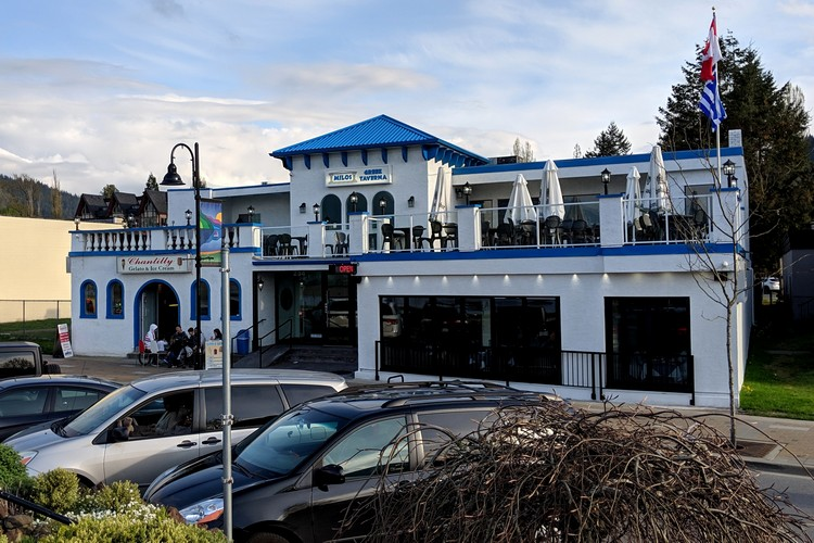 greek restaurant at Harrison Hot Springs in British Columbia