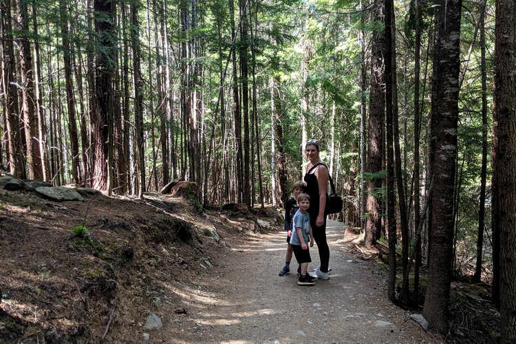 forest walk at Lost Lake Park Whistler Canada