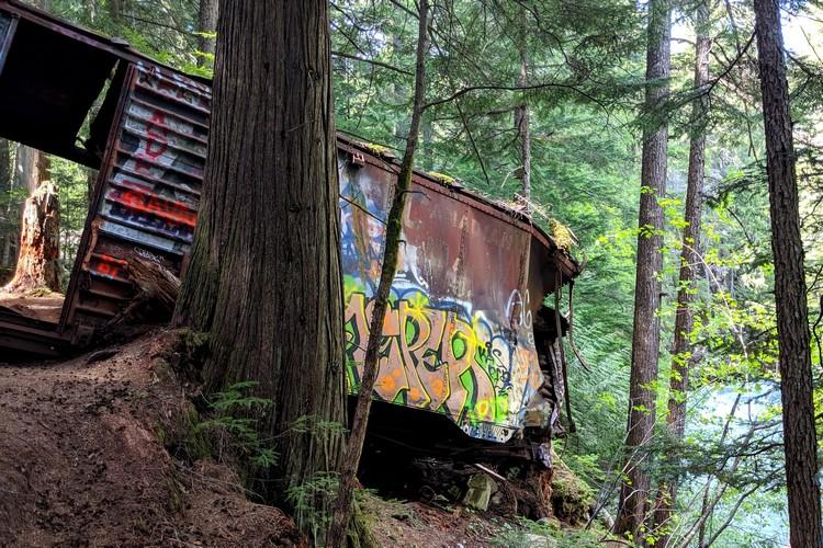 Whistler train wreck site