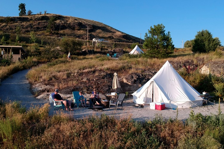 Glamping in Kelowna at Unique Canvas Luxury Camping