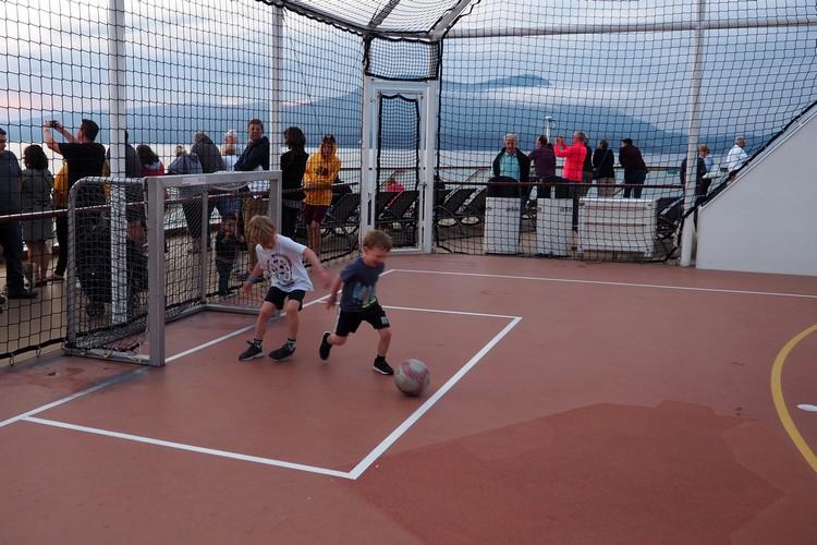outdoor basketball court Celebrity Eclipse cruise ship Alaska cruise