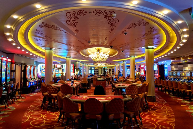 Tables at Fortunes Casino Celebrity Eclipse cruise ship Alaska cruise