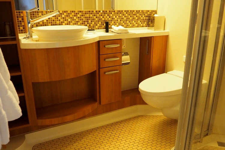 photo bathroom veranda stateroom Celebrity Eclipse cruise ship