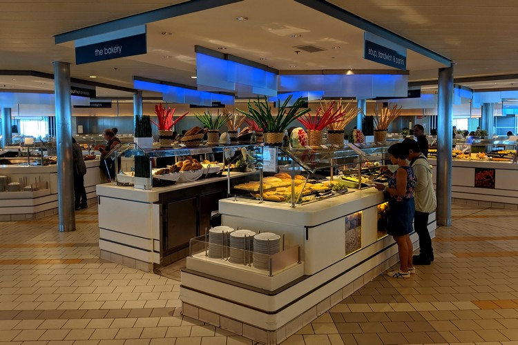 buffet on Celebrity cruise ship