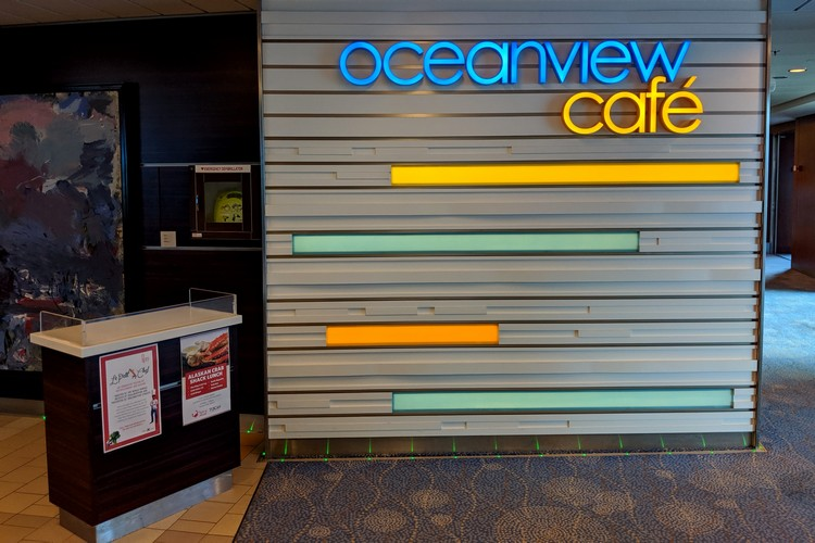 Oceanview cafe on Celebrity Eclipse cruise ship