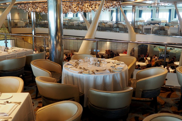 table main dining restaurant on Celebrity Eclipse cruise ship