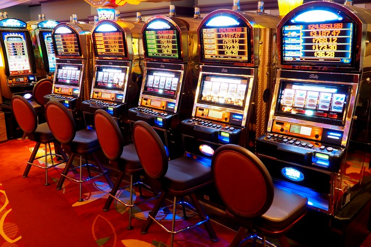 Slot machines at Fortunes Casino on Alaska cruise ship