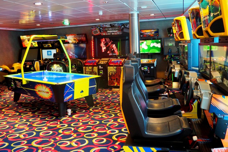 game room and arcade on Celebrity Eclipse cruise ship