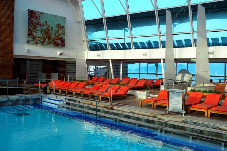 indoor pool on Celebrity Eclipse cruise ship