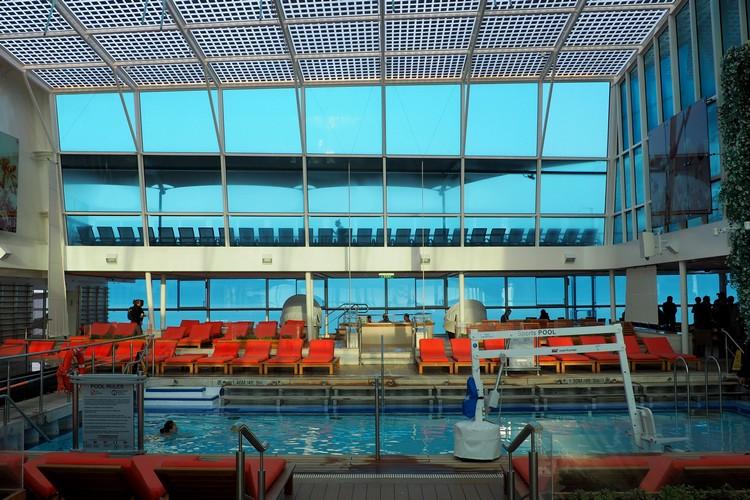 enclosed adult pool on Celebrity Eclipse cruise ship Alaska cruise