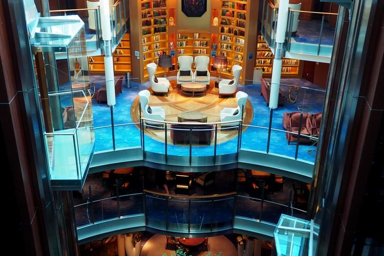 Library Celebrity Eclipse cruise ship Alaska cruise