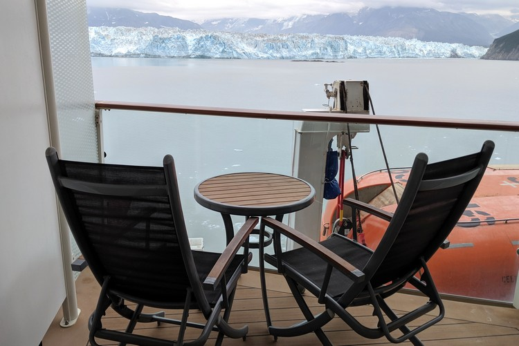 view of obstructed views stateroom on Celebrity Eclipse Alaska Cruise