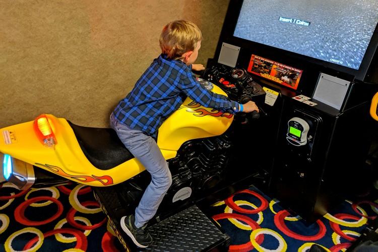 game room and arcade on Alaska cruise ship