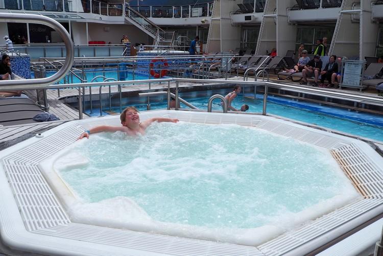 Pools on Celebrity Eclipse cruise ship Alaska Cruise
