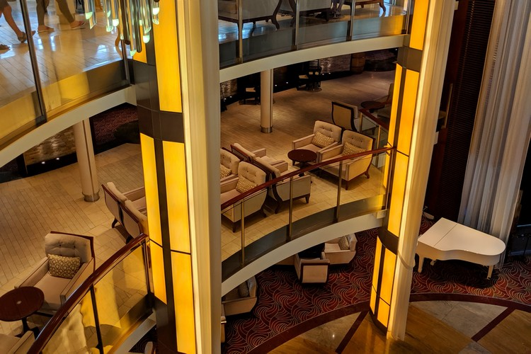 Grand Foyer Celebrity Eclipse cruise ship Alaska cruise