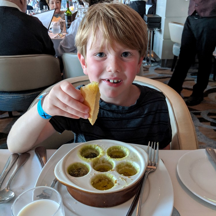 kids menu main dining restaurant on Celebrity Eclipse cruise ship