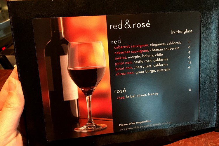 menu of alcohol classic package celebrity eclipse cruise ship