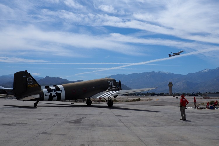 outdoor airstrip at the Palm Springs Air Museum