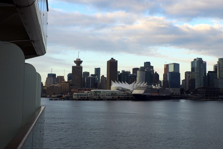 Vancouver skyline from cruise ship terminal