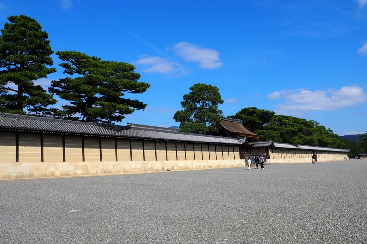 grounds outside the Kyoto Imperial Palace in Kyoto, Japan