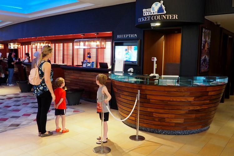Tokyo Disney Resort ticket counter at Sheraton Grande Tokyo Bay Hotel