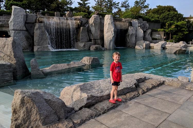 outdoor pool at Sheraton Grande Tokyo Bay Hotel at Tokyo Disney Resort