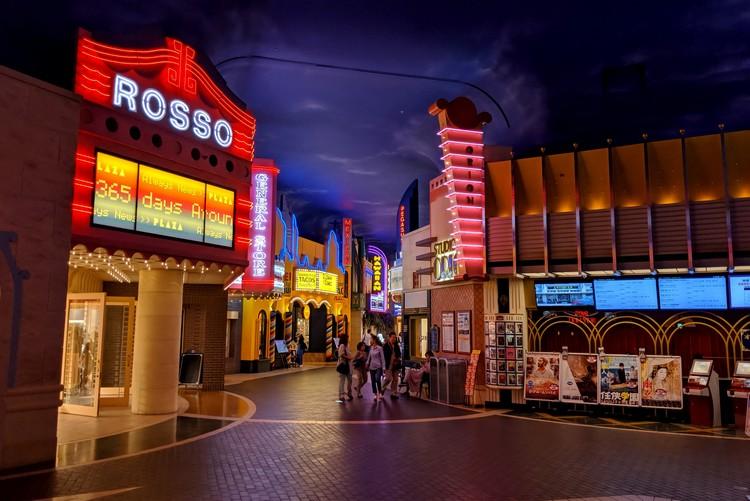 Inside the mall at Cinema Ikspiari at Sheraton Grande Tokyo Bay Hotel at Tokyo Disneyland