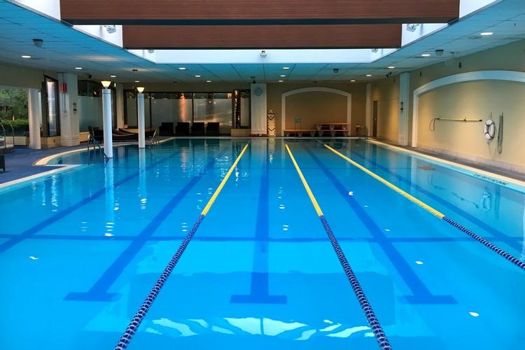 swimming pools at Oasis inside the Sheraton Grande Tokyo Bay Hotel at Tokyo Disneyland