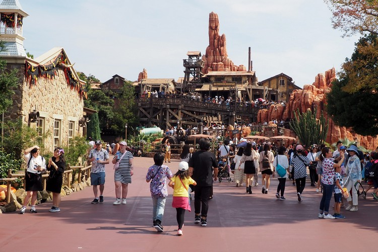 Big Thunder Mountain in Westernland at Tokyo Disneyland