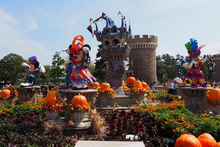 Tokyo Disneyland with Halloween decorations