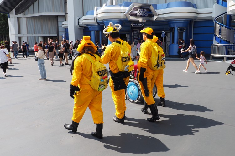 dressing up as Disney characters at Disneyland Tokyo