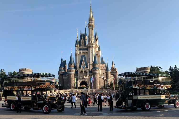 iconic image of Disney Castle inside Tokyo Disneyland in Japan