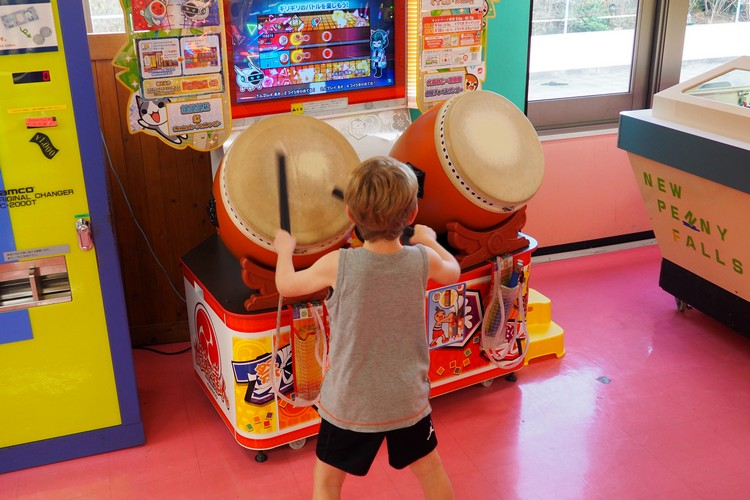 drum game at Tokyo arcade and video games