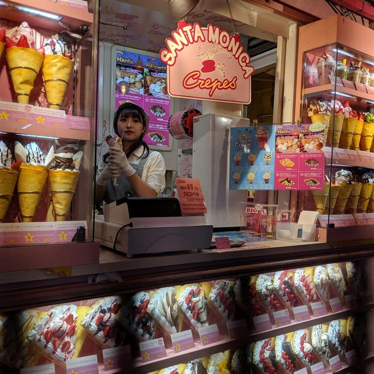 santa monica crepes takeshita street harajuku shibuya tokyo attractions japan