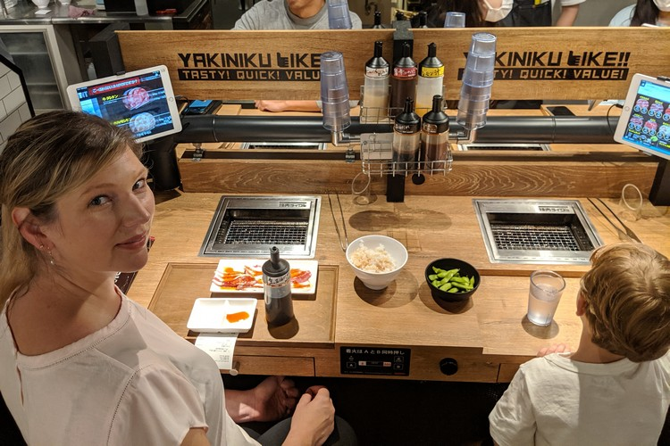 yakiniku restaurant in Akihabara Tokyo