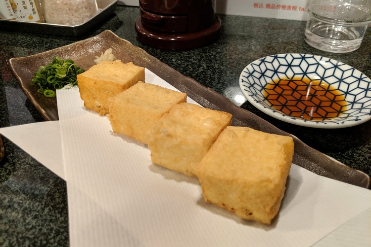 plate of agedashi tofu, food in Japan beginners guide for travelers
