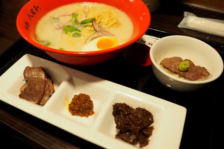 ramen with kobe beef variety at Kobe ramen restaurant in Japan
