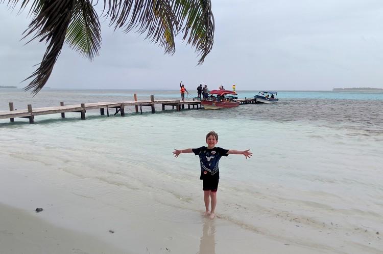 Beach on Yanis Island, San Blas Islands tour from Panama City, Panama