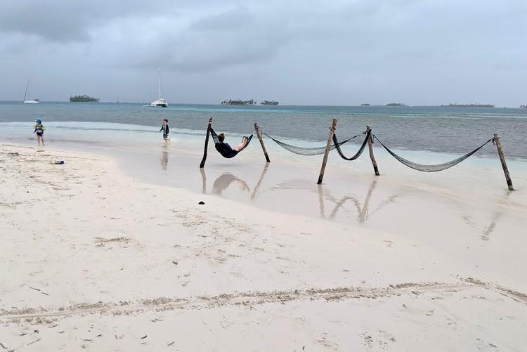beach at Yanis Island, San Blas Islands Panama