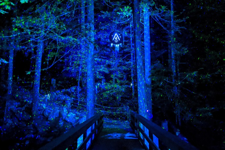 Vallea Lumina night walk light show with music
