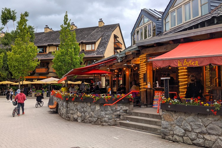 La Bocca restaurant in Whistler Village, Canada