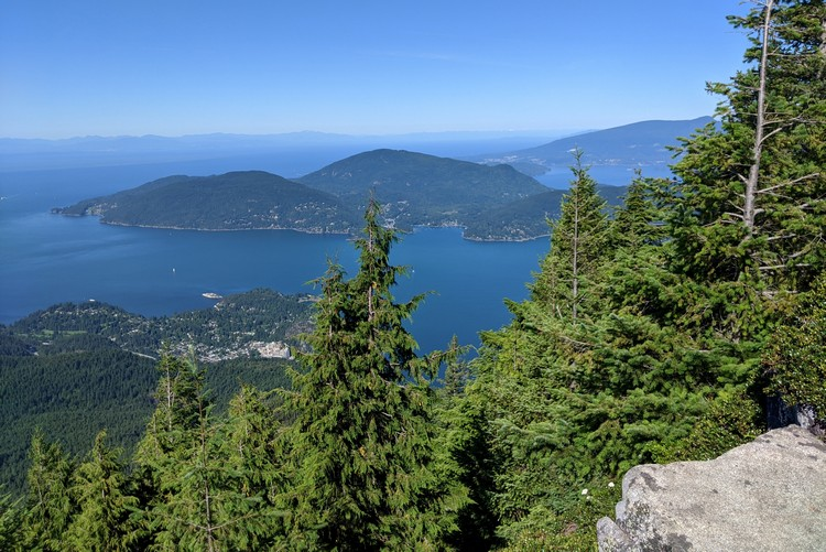 eagle bluffs view from Cypress mountain West Vancouver, British Columbia, sea to sky highway