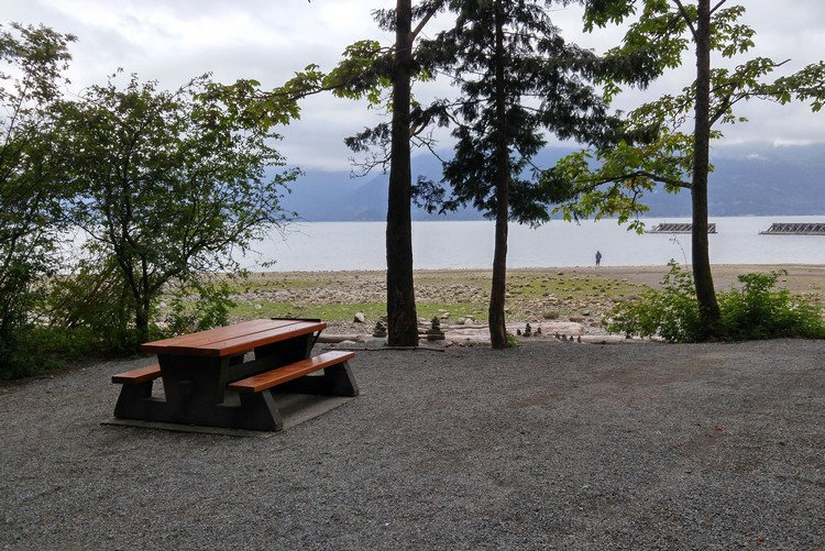 campground at Porteau Cove Provincial Park British Columbia