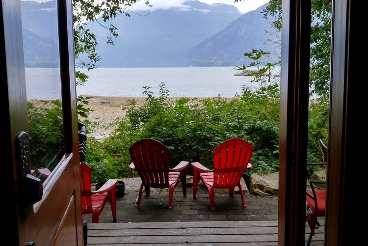 Oceanfront views from the Porteau Cove Olympic Legacy Cabins
