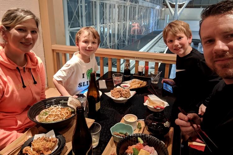 Eating Japanese food at Tokyo Haneda Airport restaurants