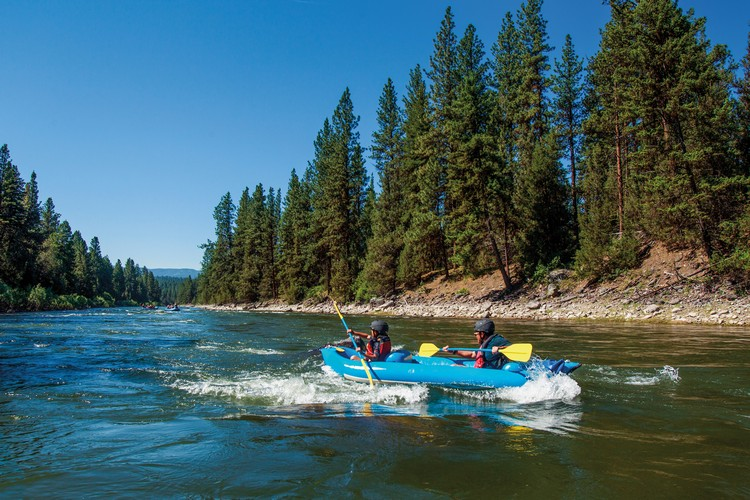 River rafting in Montana, summer family vacation