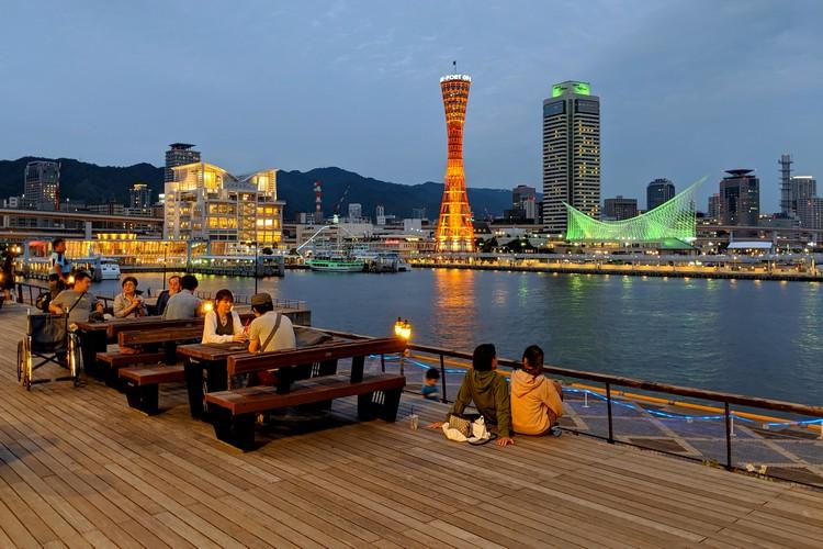 Kobe Harborland night scene, Kobe Port Tower, things to do in Kobe, Japan